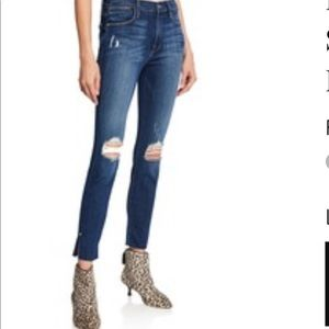 Frame cropped skinny jeans distressed